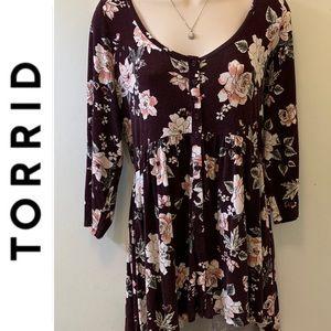 Flattering Floral Torrid Tunic